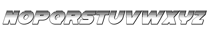 Han Solo Platinum Italic Font LOWERCASE