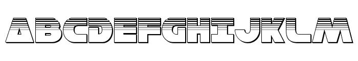 Han Solo Platinum Font UPPERCASE