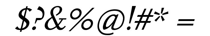 Hanch Italic Font OTHER CHARS