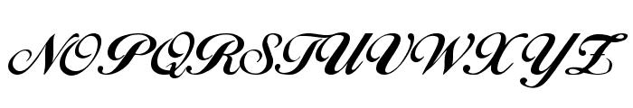 Hancock Regular Font UPPERCASE
