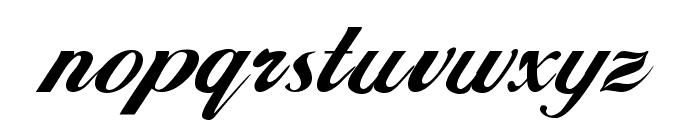 Hancock Regular Font LOWERCASE
