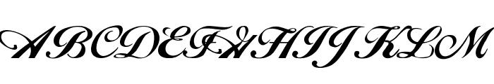 Hancock Font UPPERCASE