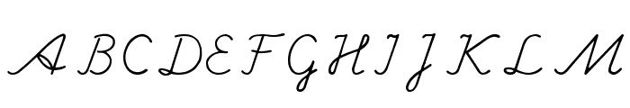 Hand Center Font UPPERCASE