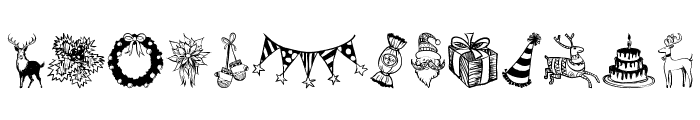 Hand Christmas Doodle Font UPPERCASE