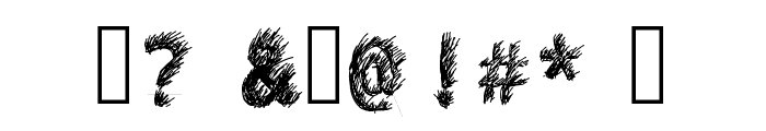 Hand Drawn Lawn Font OTHER CHARS