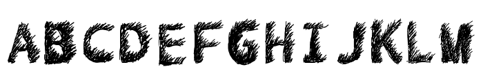 Hand Drawn Lawn Font UPPERCASE