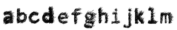 Hand Drawn Lawn Font LOWERCASE