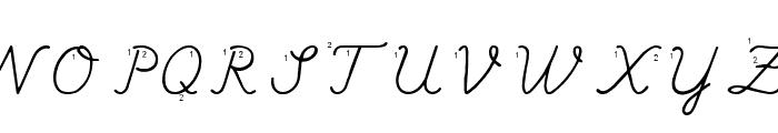 Hand Escort Font UPPERCASE