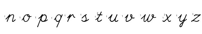 Hand Escort Font LOWERCASE