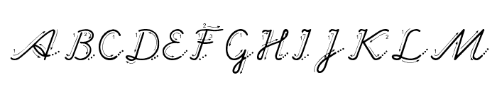 Hand Garden Font UPPERCASE