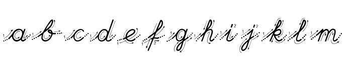 Hand Garden Font LOWERCASE