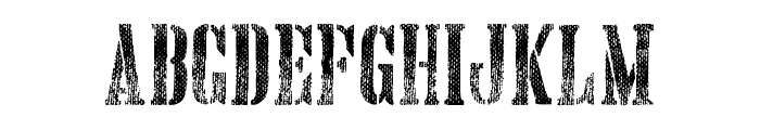 Hand Printing Press Meshed_demo Font UPPERCASE