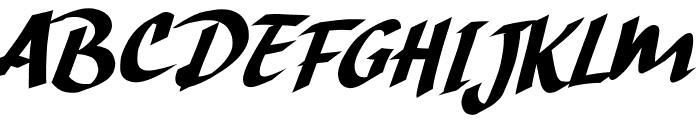 Hand Strike Font UPPERCASE