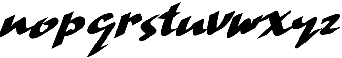 Hand Strike Font LOWERCASE