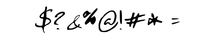 Hand Test Font OTHER CHARS