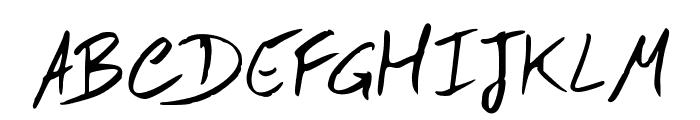 Hand Test Font UPPERCASE