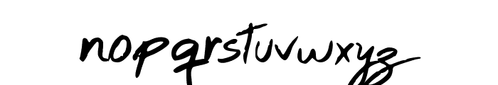 Hand Test Font LOWERCASE