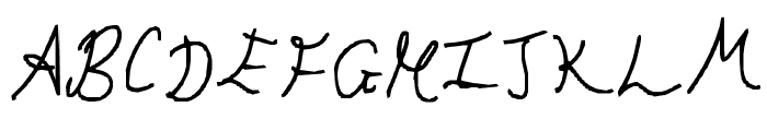 Hand Writing of the Last Century Font UPPERCASE