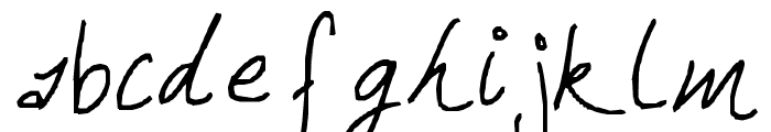 Hand Writing of the Last Century Font LOWERCASE