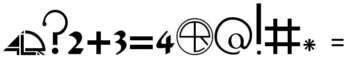HandScript LCase 4LR Font OTHER CHARS