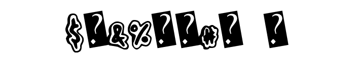 HandShadow Font OTHER CHARS