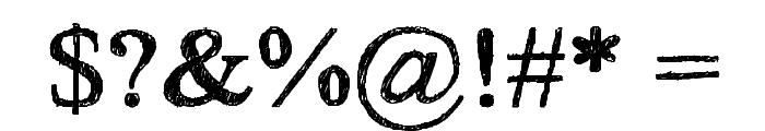 HandTIMES Font OTHER CHARS