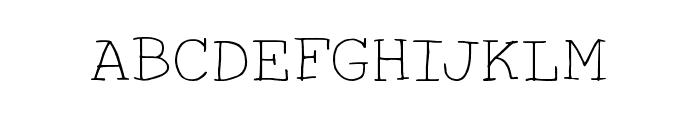 HandTypist Font UPPERCASE