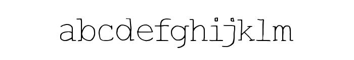 HandTypist Font LOWERCASE