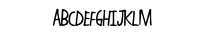 HandWork Font UPPERCASE