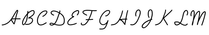 Handa Font UPPERCASE