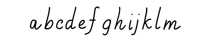Handa Font LOWERCASE