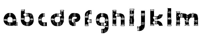 HanddrawnPipe-Regular Font LOWERCASE