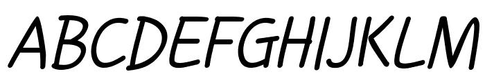 Handgley Italic Font UPPERCASE