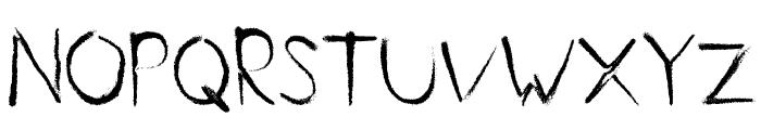 Handmade Font UPPERCASE