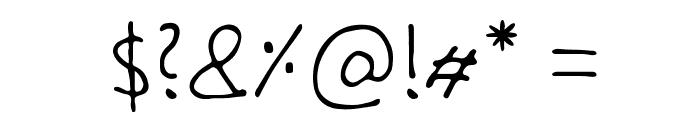 Handschrift Font OTHER CHARS