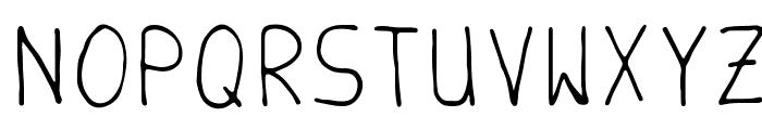 Handschrift Font UPPERCASE