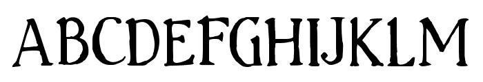 Handserif Font UPPERCASE