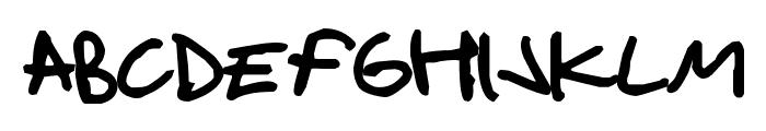 Handshake Bold Font UPPERCASE