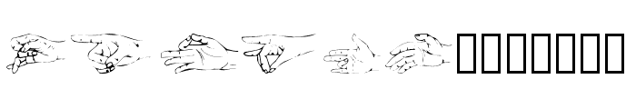 Handsom Font UPPERCASE