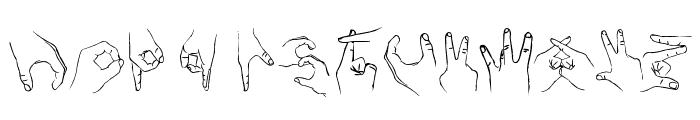 Handstand Font UPPERCASE