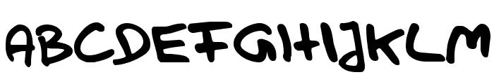 Handwerk Font UPPERCASE
