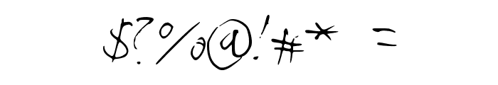 Handwriter Font OTHER CHARS