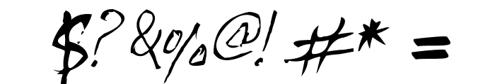 Handwriting Mehmood Font OTHER CHARS