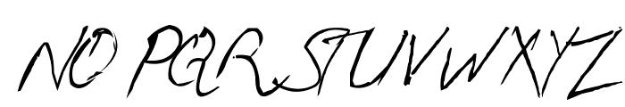 Handwriting Mehmood Font UPPERCASE