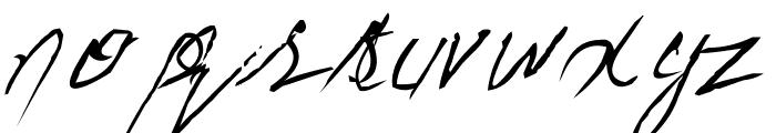 Handwriting Mehmood Font LOWERCASE