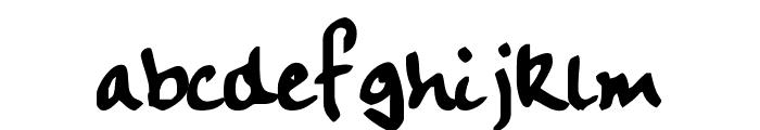 Handwriting Plain:0.0 Font LOWERCASE