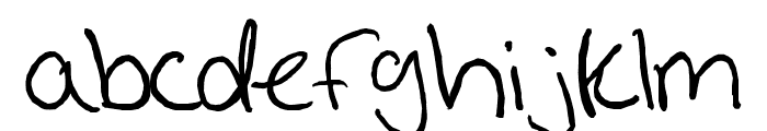 Handwriting Prestons Fast Font LOWERCASE