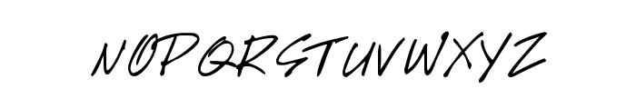 Handwriting Font UPPERCASE