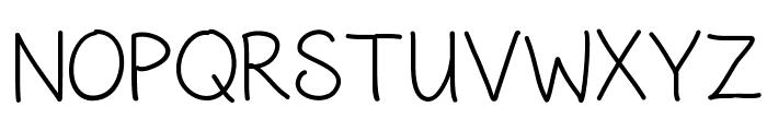 HandwritingCR Font UPPERCASE