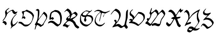 Handwriting_Schwabacher Font UPPERCASE